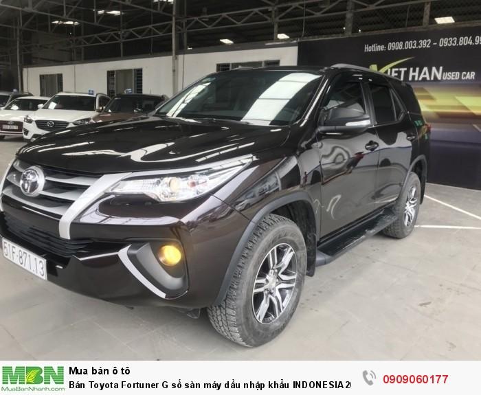 Bán Toyota Fortuner G số sàn máy dầu nhập khẩu INDONESIA 2017 màu nâu titan biển Sài Gòn