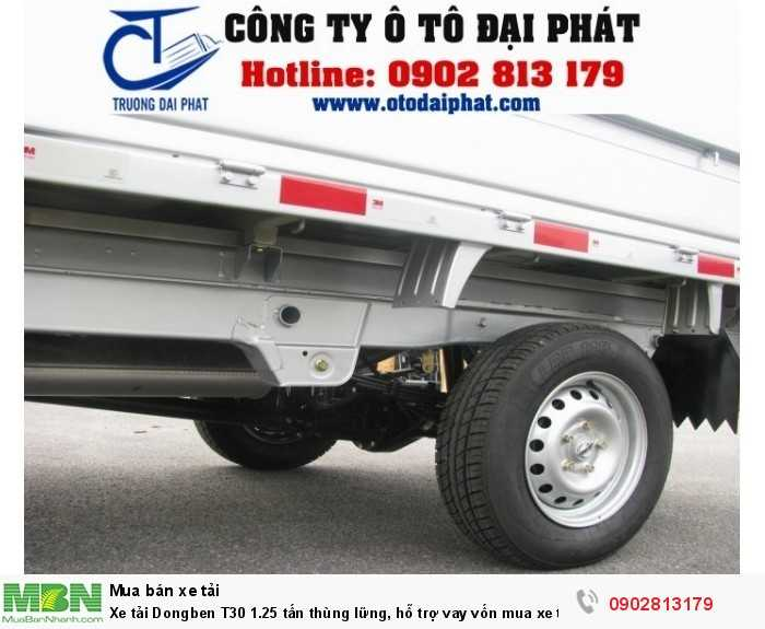Xe tải Dongben T30 1.25 tấn thùng lững, hỗ trợ vay vốn mua xe trả góp 80%