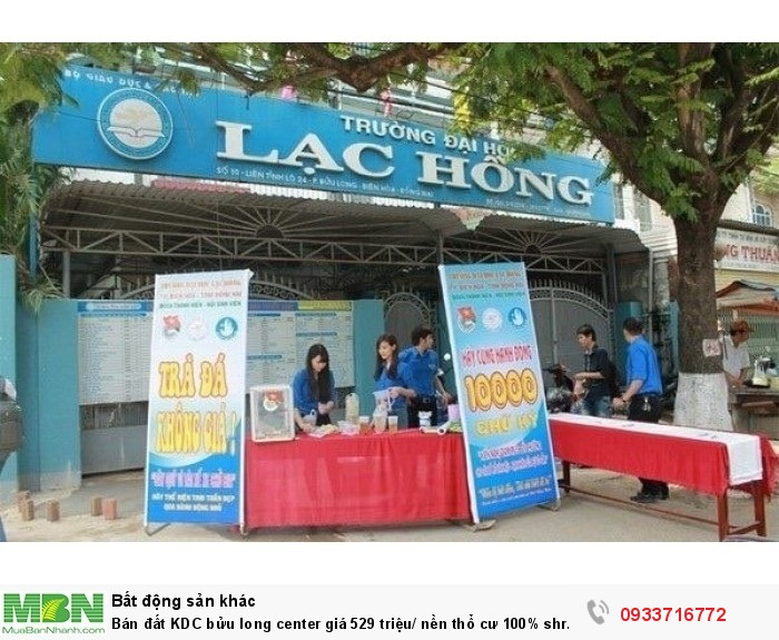Bán đất KDC bửu long center giá 529 triệu/ nền thổ cư 100% shr mặt tiền đường Huỳnh Văn Nghệ