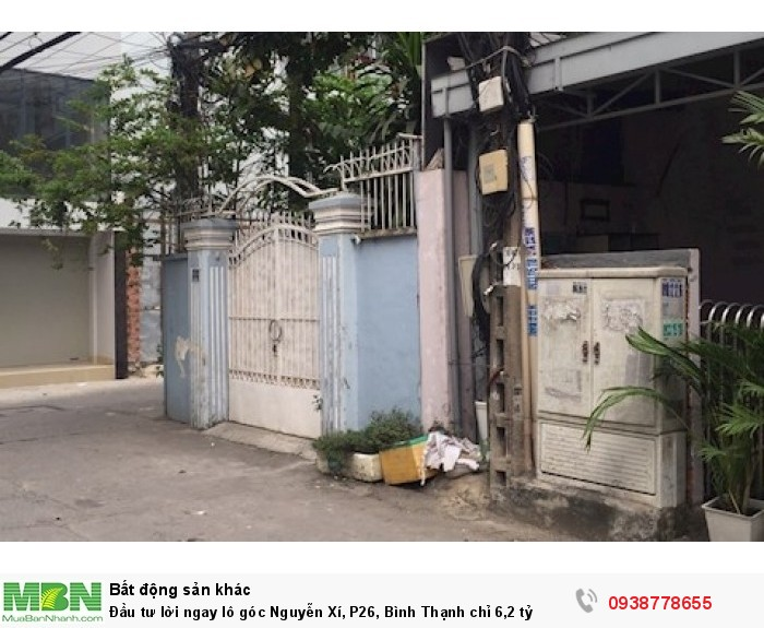 Đầu tư lời ngay lô góc Nguyễn Xí, P26, Bình Thạnh