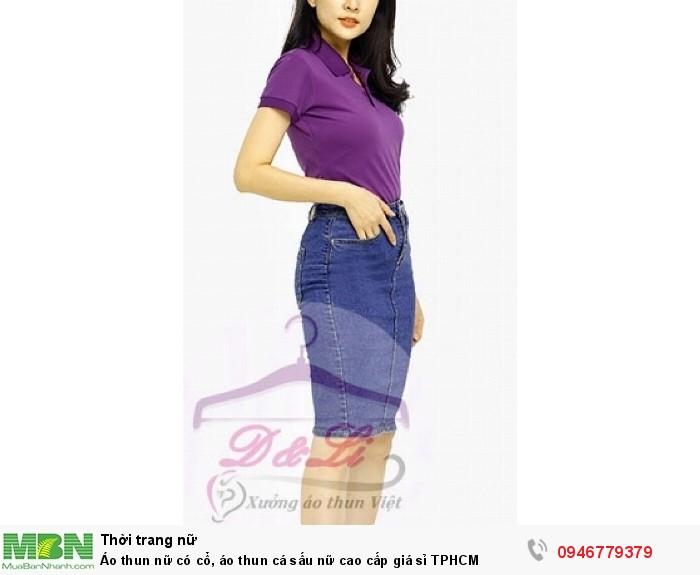 Áo thun nữ có cổ, áo thun cá sấu nữ cao cấp giá sỉ TPHCM6