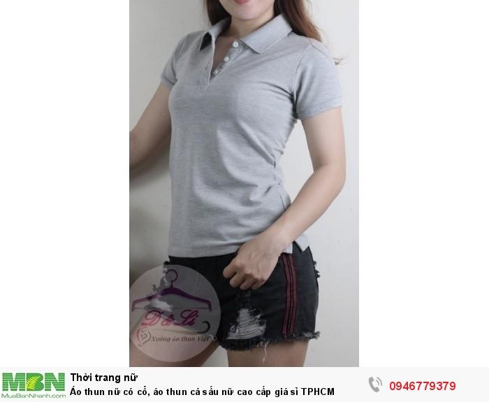 Áo thun nữ có cổ, áo thun cá sấu nữ cao cấp giá sỉ TPHCM7