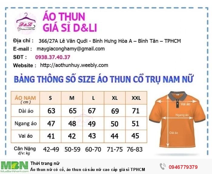 Áo thun nữ có cổ, áo thun cá sấu nữ cao cấp giá sỉ TPHCM9