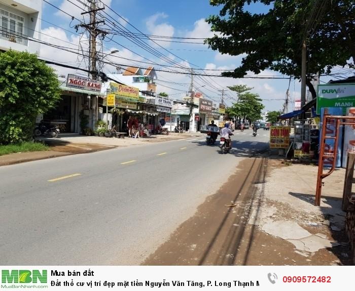 Đất thổ cư vị trí đẹp mặt tiền kd Nguyễn Văn Tăng, P. Long Thạnh Mỹ, Giá 6.5 tỷ