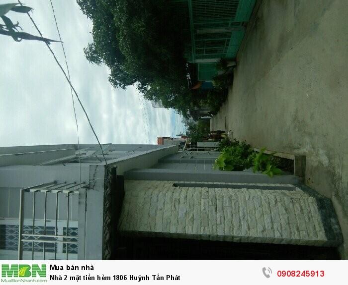 Nhà 2 mặt tiền hẻm 1806 Huỳnh Tấn Phát