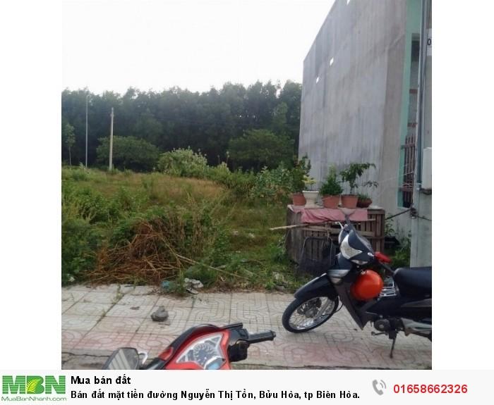 Bán đất mặt tiền đường Nguyễn Thị Tồn, Bửu Hòa, tp Biên Hòa
