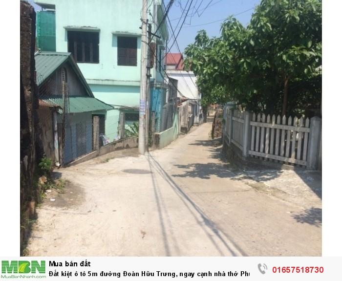 Đất kiệt ô tô 5m đường Đoàn Hữu Trưng, ngay cạnh nhà thờ Phủ Cam