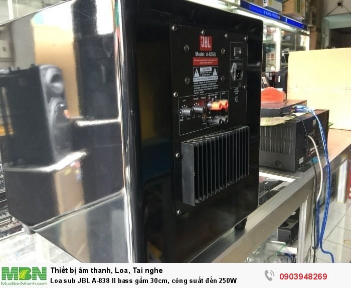 Loa Sub JBL A-835 II Chế độ Fake 0-180 2 Ngõ tín hiệu đầu vào AV và dây loa Dòng điện áp: 220V/50Hz (0.5 W Standby Power)1