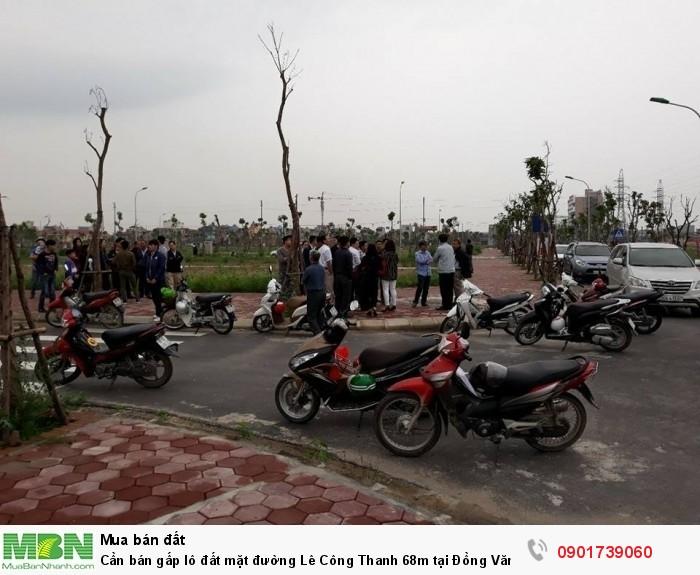 Cần bán gấp lô đất mặt đường Lê Công Thanh 68m tại Đồng Văn, Duy Tiên, Hà Nam