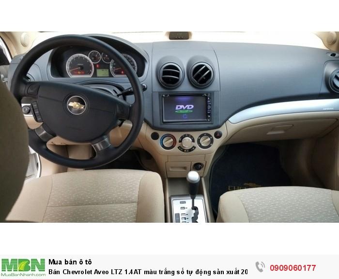 Bán Chevrolet Aveo LTZ 1.4AT màu trắng số tự động sản xuất 2017 mẫu mới