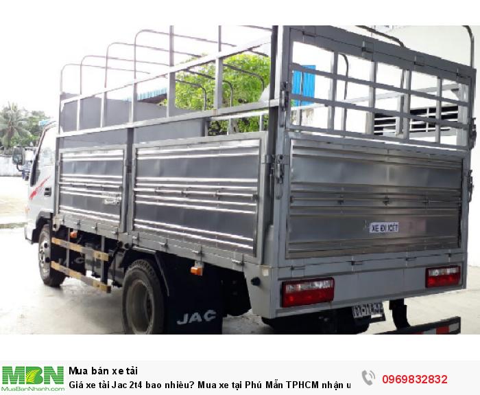 Thủ tục mua xe tải jac 2t4 vay nhanh gọn, lãi suất thấp, vay cao, thời gian vay dài, thế chấp bằng chính chiếc xe cần vay - Gọi ngay Mr Độ 0969 832 832
