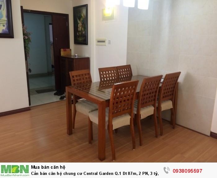 Cần bán căn hộ chung cư Central Garden Q.1 Dt 87m, 2 PN, 3 tỷ, nội thất