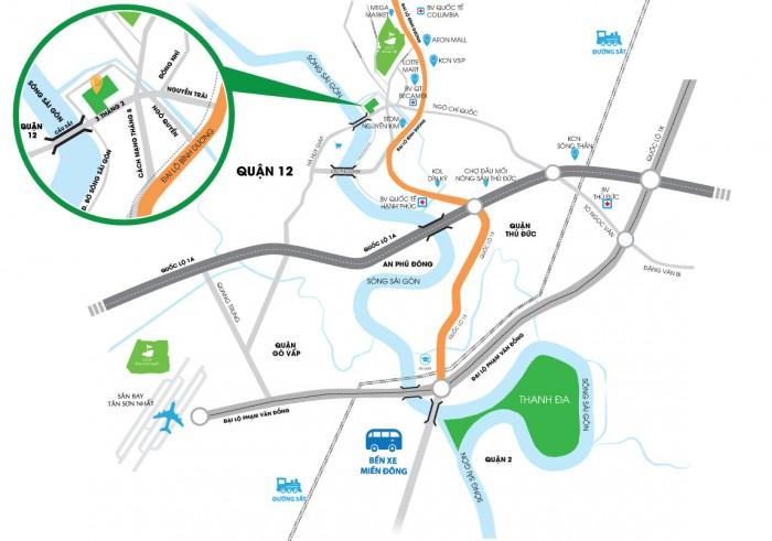 Lotus 2 - Căn Hộ Ven Sông Hà Huy Giáp, 1-2PN 2WC - hỗ trợ vay 70%
