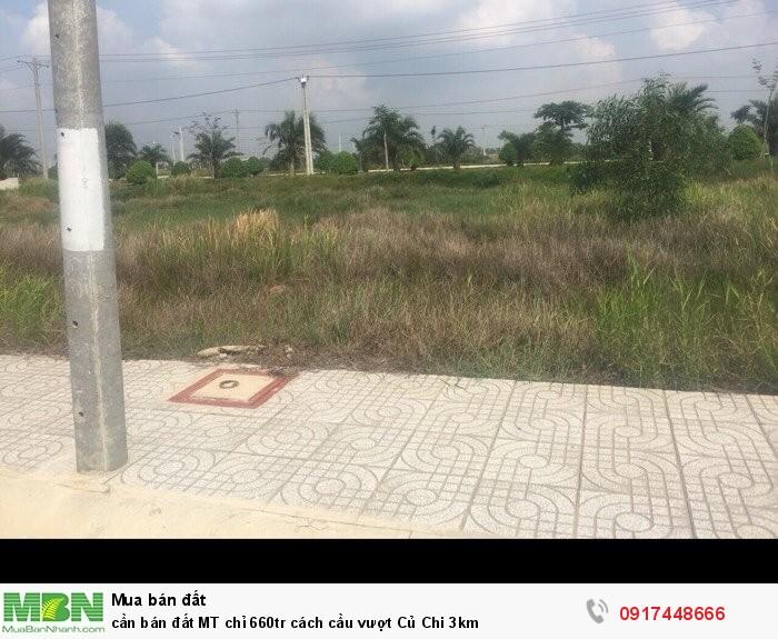 Cần bán đất MT chỉ 660tr cách cầu vượt Củ Chi 3km