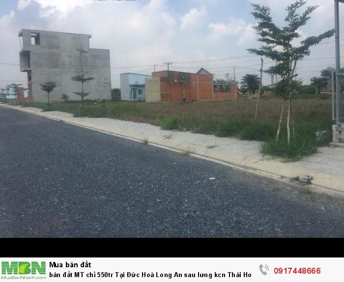 Bán đất MT chỉ Tại Đức Hoà Long An sau lưng kcn Thái Hoà cách tthc Củ Chi 6km