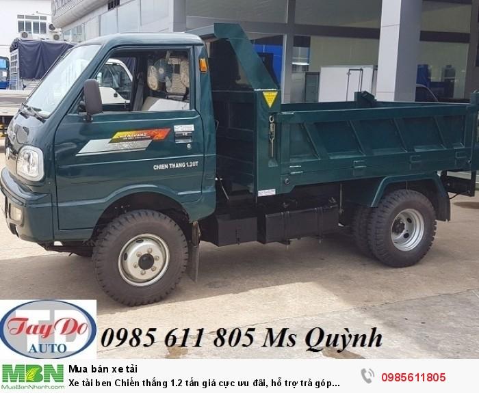 Xe tải ben Chiến thắng 1.2 tấn giá cực ưu đãi, hỗ trợ trả góp 70%| xe ben 1tan5, đại lý xe ben uy tín