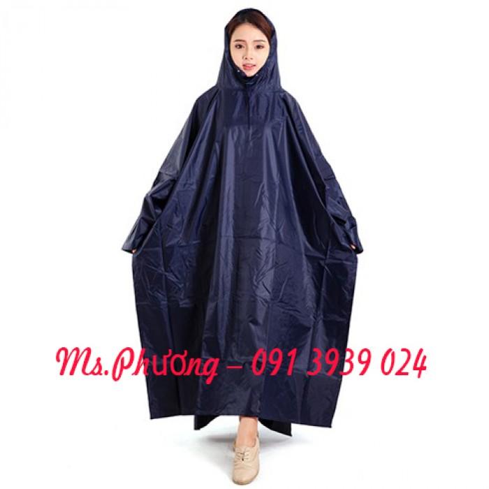 Xưởng áo mưa, áo mưa in logo, áo mưa dù xanh đen