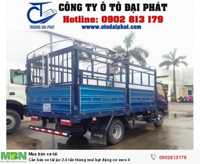 Cần bán xe tải jac 2.4 tấn thùng mui bạt động cơ euro 4