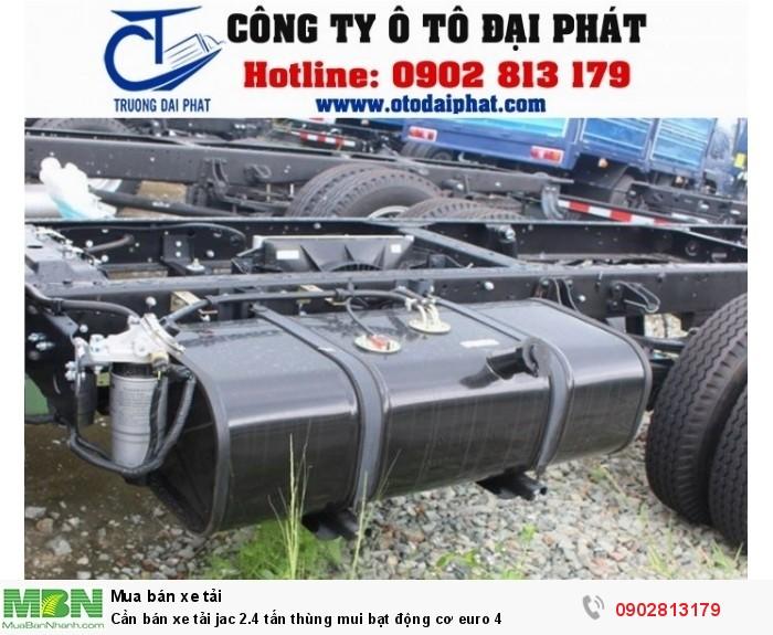 Cần bán xe tải jac 2.4 tấn thùng mui bạt động cơ euro 4 4