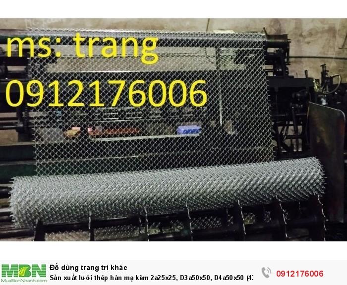Lưới thép hàn mạ kẽm D2 a 25x251