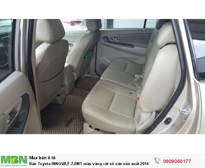 Bán Toyota INNOVA E 2.0MT màu vàng cát số sàn sản xuất 2014 biển Sài Gòn lăn bánh 69000km