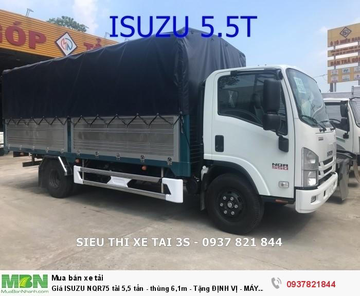 Giá ISUZU NQR75 tải 5,5 tấn - thùng 6,1m - Tặng ĐỊNH VỊ - MÁY LẠNH