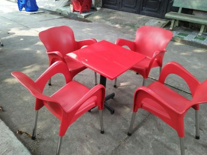 Bàn ghế nhựa cafe cao cấp7
