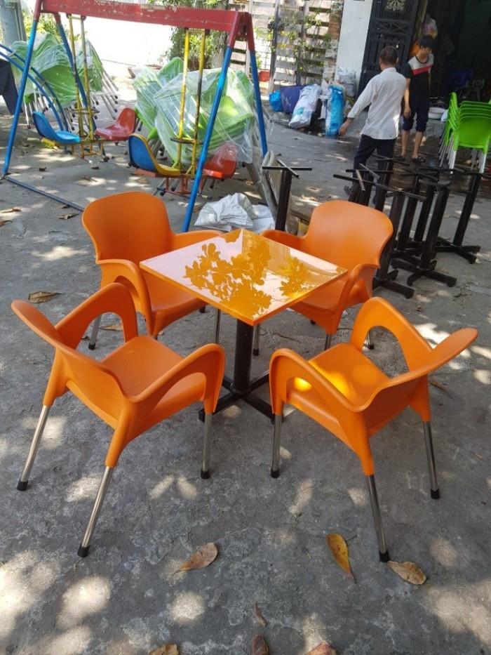 Bàn ghế nhựa cafe cao cấp0