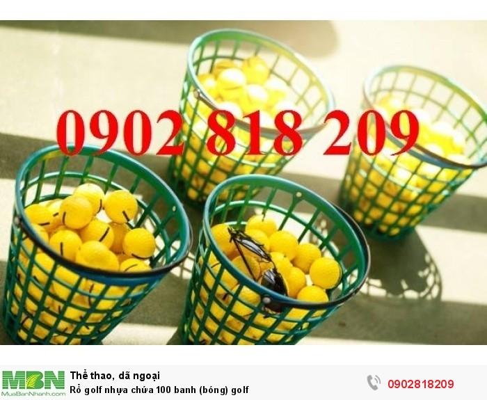 Rổ golf nhựa chứa 100 banh (bóng) golf0