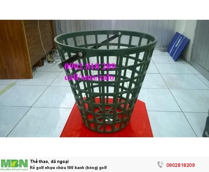 Rổ golf nhựa chứa 100 banh (bóng) golf1