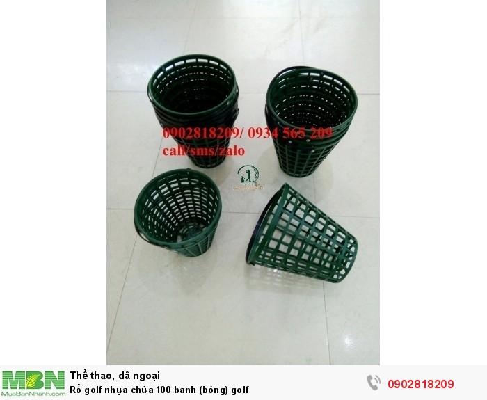 Rổ golf nhựa chứa 100 banh (bóng) golf2