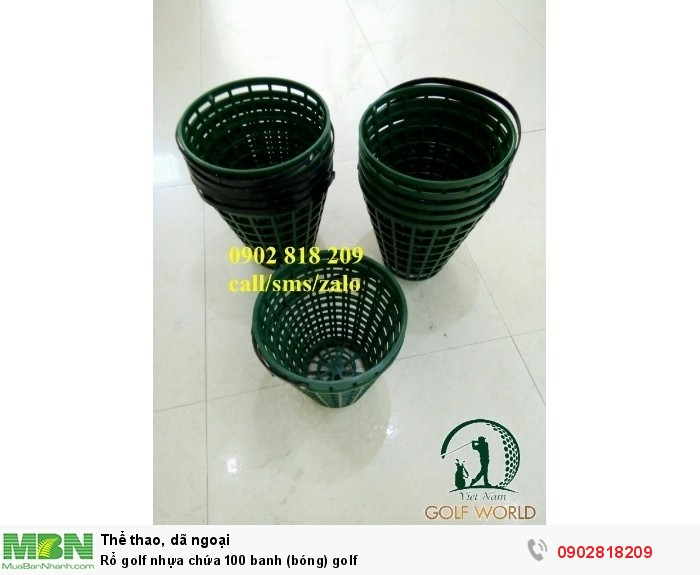 Rổ golf nhựa chứa 100 banh (bóng) golf3