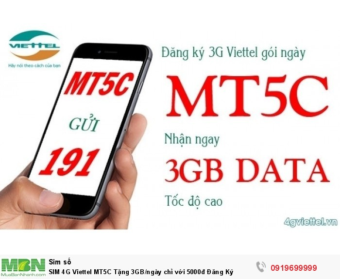 SIM 4G Viettel MT5C Tặng 3GB/ngày chỉ với 5000đ Đăng Ký0