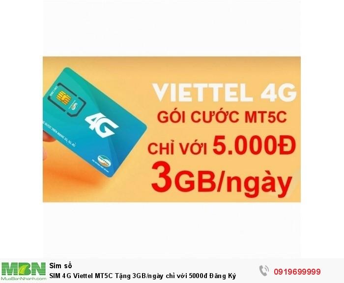 SIM 4G Viettel MT5C Tặng 3GB/ngày chỉ với 5000đ Đăng Ký1