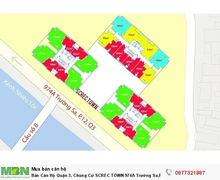 Bán Căn Hộ Quận 3, Chung Cư SCREC TOWN 974A Trường Sa,Phường 12 Quận 3
