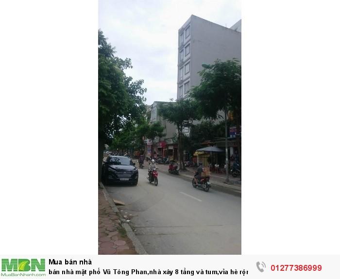 Bán nhà mặt phố Vũ Tông Phan,nhà xây 8 tầng và tum, vỉa hè rộng