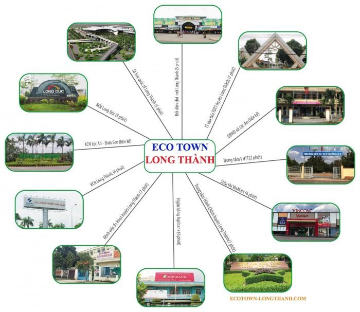 Bán đất dự án Eco Town Long Thành, xã An Phước, NH hỗ trợ vay vốn 50% 0 lãi suất.