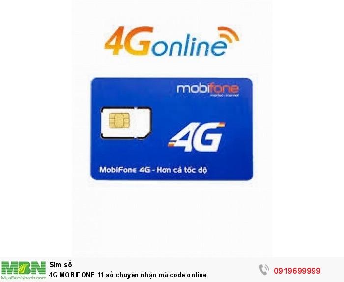 4G MOBIFONE 11 số chuyên nhận mã code online0