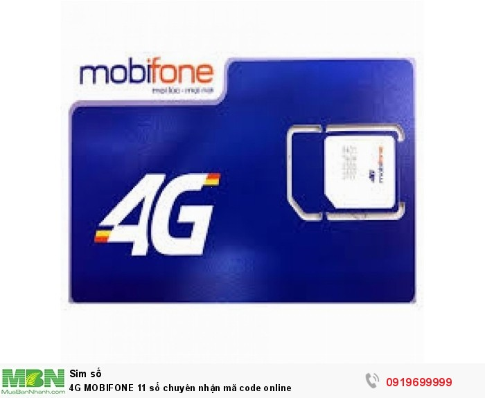 4G MOBIFONE 11 số chuyên nhận mã code online1