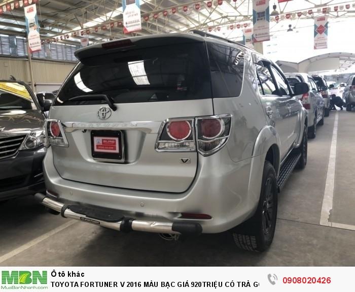 Toyota Fortuner V 2016 Màu Bạc Chạy 35.000 Có Trả Góp