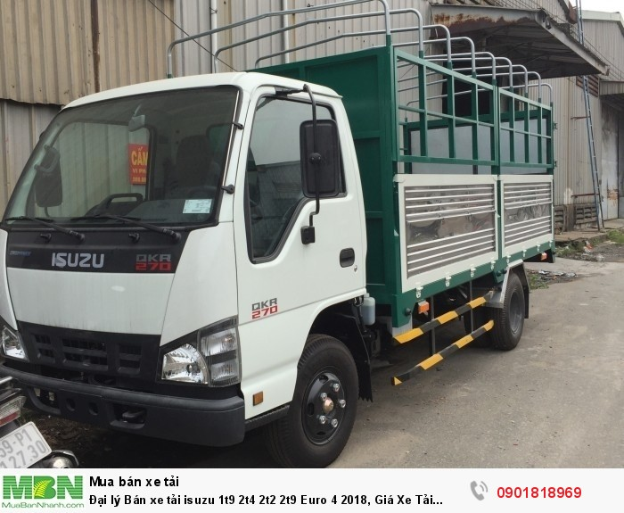 Đại lý Bán xe tải isuzu 1t9 2t4 2t2 2t9  Euro 4 2018, Giá Xe Tải Isuzu 1T9 đời 2018, Bán Xe Tải isuzu 1t9