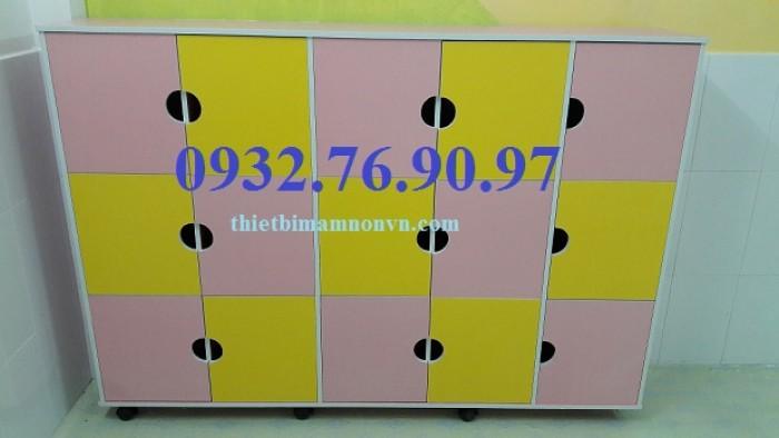 Tủ tư trang dành cho bé mầm non có cửa đóng - an toàn - giá rẻ