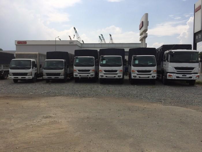 Xe tải giá rẻ mitsubishi fi 7,2 tấn+ thùng mui bạt- xe tải FUSO 7 tấn- xe tải 7 tấn