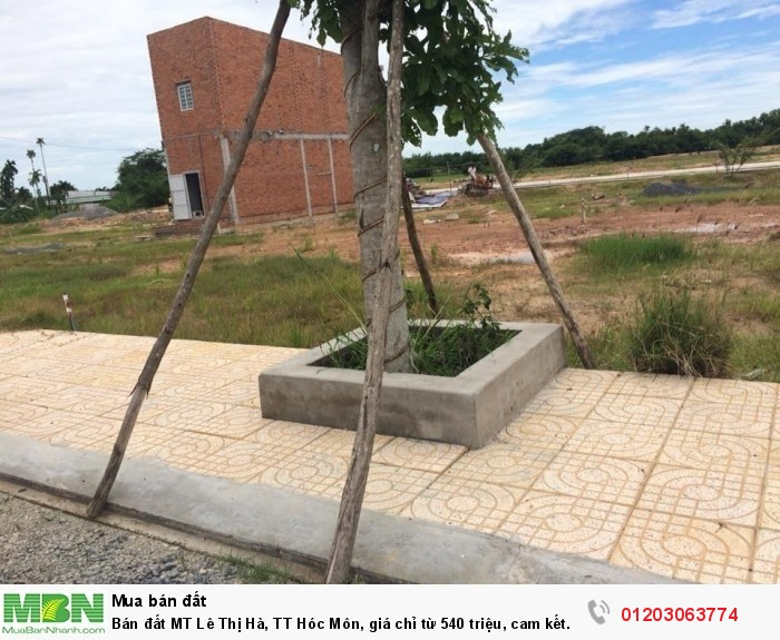 Bán đất MT Lê Thị Hà, TT Hóc Môn, giá chỉ từ 540 triệu, cam kết sinh lời 5%/ tháng