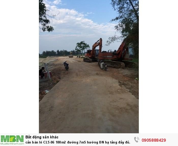 Cần bán lô CL5-06 100m2 đường 7m5 hướng ĐN hạ tầng đầy đủ 700tr/lô