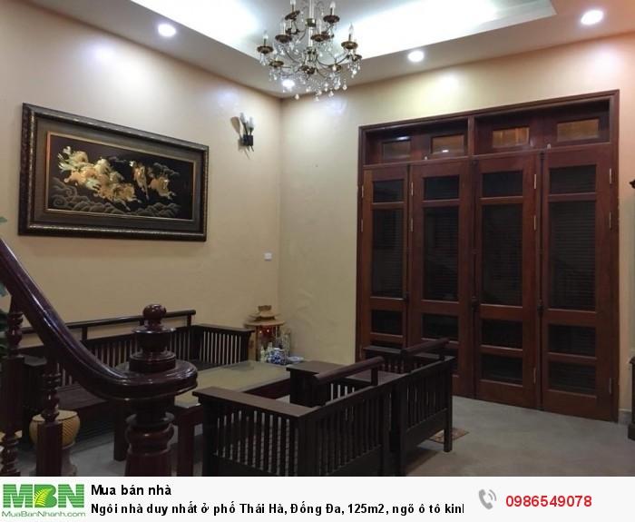 Ngôi nhà duy nhất ở phố Thái Hà, Đống Đa, 125m2, ngõ ô tô kinh doanh tốt giá dưới 140 triệu/m2.