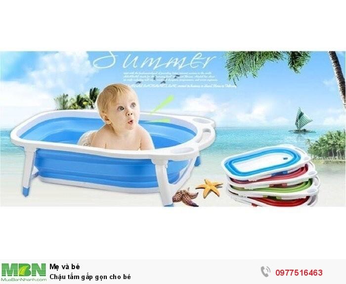 Chậu tắm gấp gọn cho bé0