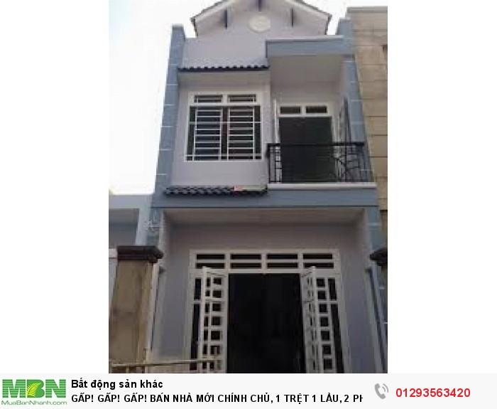 Bán Nhà Mới Chính Chủ, 1 Trệt 1 Lầu, 2 Phòng Ngủ, 1 Wc, Nguyễn Ảnh Thủ, Quận 12