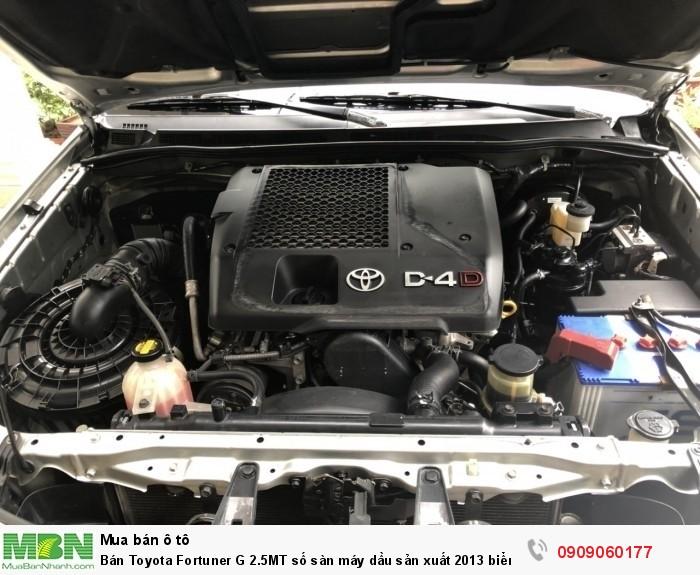 Bán Toyota Fortuner G 2.5MT số sàn máy dầu sản xuất 2013 biển Sài Gòn