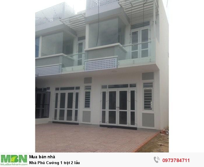 Nhà Phú Cường 1 trệt 2 lầu